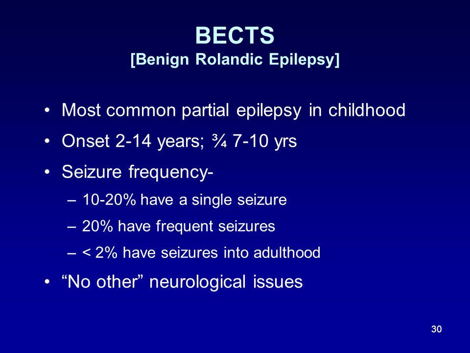 BECTS [Benign Rolandic Epilepsy]